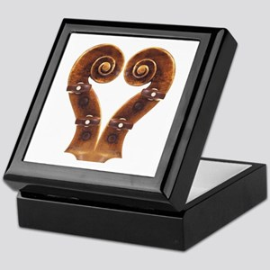 Violin Scroll Heart Keepsake Box